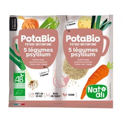 Potage instantané 5 légumes - psyllium BIO - sachet 2x8.5g