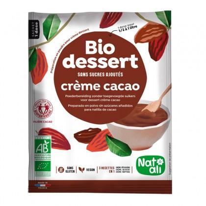 Préparation en poudre pour crème dessert cacao sans sucres ajoutés - sachet 45g