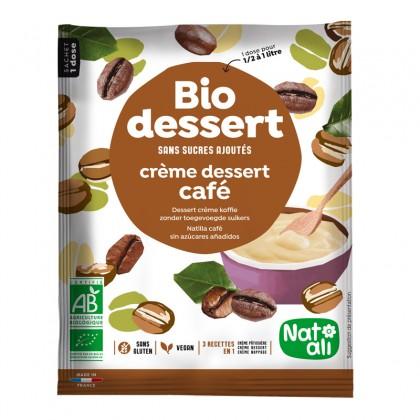 Préparation en poudre pour crème dessert café sans sucres ajoutés - sachet 45g