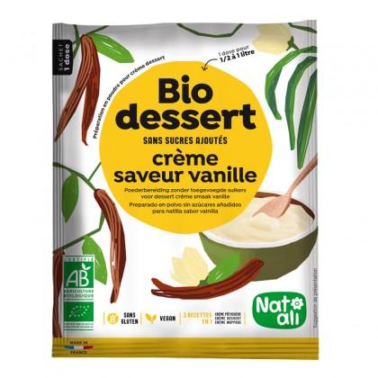 Préparation en poudre pour crème dessert saveur vanille sans sucres ajoutés - sachet 35g