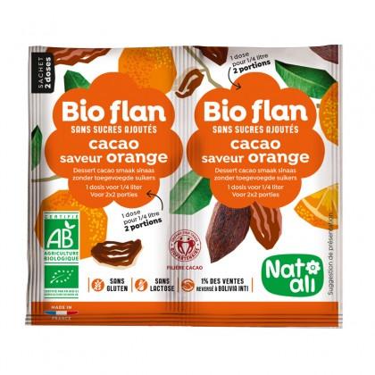 Préparation en poudre pour entremets cacao orange sans sucres ajoutés - sachet 2x5g