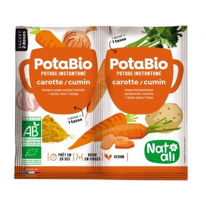 Potage instantané carotte - cumin BIO - sachet 2x8.5g
