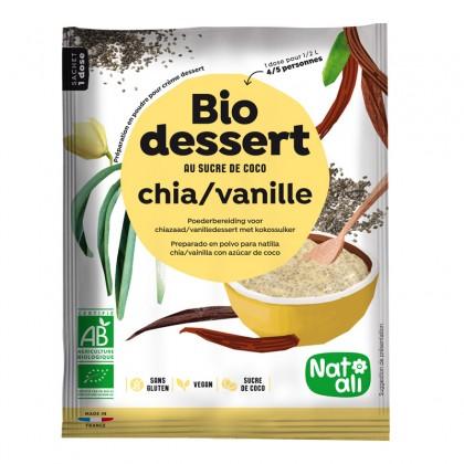 Préparation en poudre BIO au sucre de coco pour crème dessert chia vanille - sachet 60g
