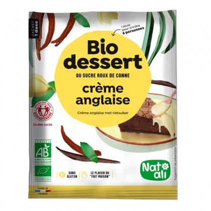 Préparation en poudre BIO au sucre de canne pour crème anglaise - sachet 60g