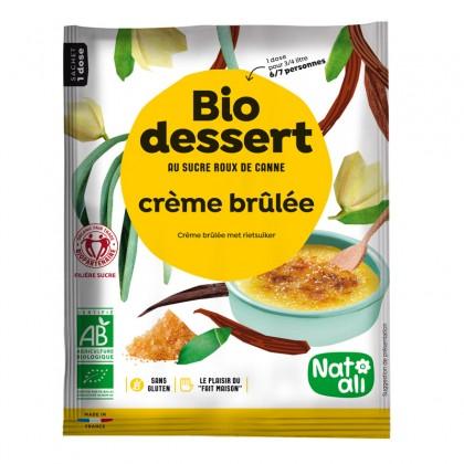Préparation en poudre BIO au sucre de canne pour crème brûlée - sachet 80g