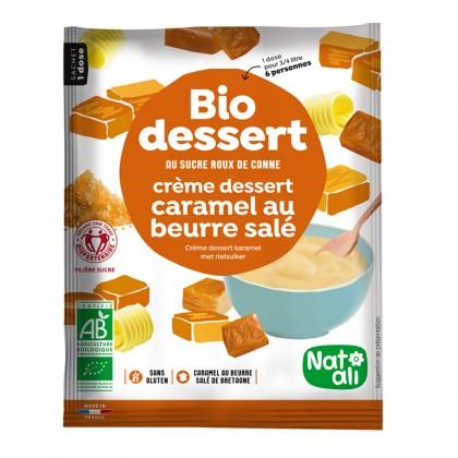Préparation en poudre BIO au sucre de canne pour crème caramel au beurre salé - sachet 60g