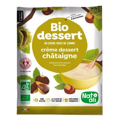 Préparation en poudre BIO au sucre de canne pour crème châtaigne - sachet 60g