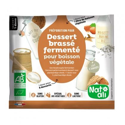 Ferments lyophilisés – Préparation en poudre pour dessert brassé végétal - sachet 24g